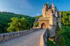 Burg Eltz castle in Rhineland-Palatinate, Germany. Burg Eltz castle in Rhineland-Palatinate state, Germany. Construction startedprior to 1157 stock photos
