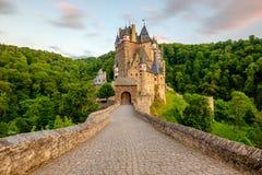 Burg Eltz castle in Rhineland-Palatinate at sunset Royalty Free Stock Images