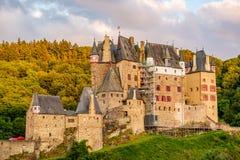 Burg Eltz castle in Rhineland-Palatinate at sunset Stock Image