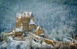 Burg Eltz. Winter shot of German castle Burg Eltz Royalty Free Stock Image