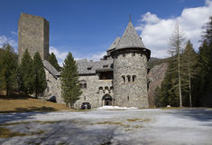 Burg Finstergrun stock afbeelding