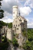 burg grodowa czarodziejska Lichtenstein bajka Zdjęcie Royalty Free