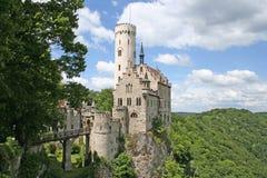 burg grodowa czarodziejska Lichtenstein bajka Zdjęcia Royalty Free