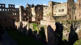 Burg in Heidelberg Royalty-vrije Stock Foto's
