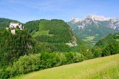 Burg Hohenwerfen en Werfen, Austria imagenes de archivo