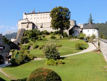 Medieval fortification - Hohenwerfen Castle - 11th century - Austrian town of Werfen - Salzach valley Stock Photography