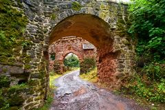 Burg Hohnstein ruins in Harz Neustadt Germany Royalty Free Stock Photography