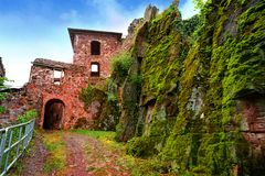 Burg Hohnstein ruins in Harz Neustadt Germany Royalty Free Stock Photos