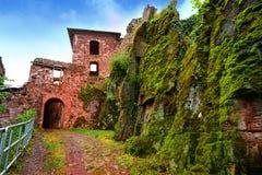 Burg Hohnstein ruiny w Harz Neustadt Niemcy Zdjęcia Royalty Free