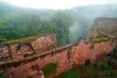 Burg Hohnstein ruiny w Harz Neustadt Niemcy Obraz Stock