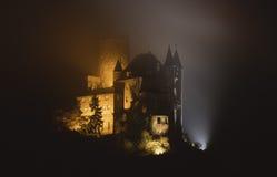 Burg Katz Castle par nuit images libres de droits