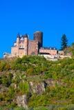 Burg Katz, Duitsland Royalty-vrije Stock Foto