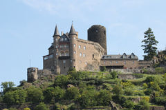 Burg Katz on the Rhine (close up) Stock Images