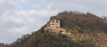 burg katz rhineland germany in the winter Royalty Free Stock Image