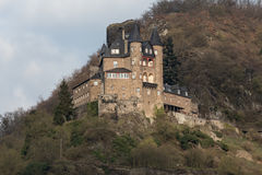 burg katz rhineland germany in the winter Stock Images