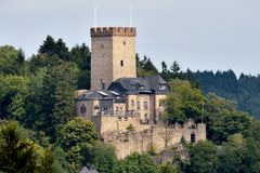 Burg Kerpen. Old castle in the town of Kerpen Germany Stock Photo