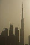 Burg Khalifa al tramonto Fotografie Stock Libere da Diritti