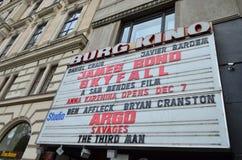 Burg Kino Cinema Front Headlights in Wenen, Oostenrijk stock afbeeldingen