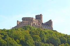 Burg Landshut no rio Mosel em Alemanha imagens de stock