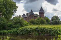 Burg Linn castle in Germany, Nordrhein-Westfalen,. Old Burg Linn castle in Germany, close to Düsseldorf Royalty Free Stock Images