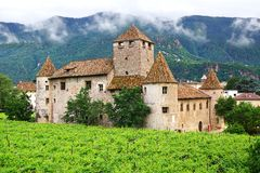Burg Maretsch in Bolzano. Italy Stock Images