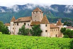 Burg Maretsch in Bolzano. Italy. Picturesque landscape with Burg Maretsch in Bolzano. Italy stock images
