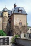 Burg Namedy a moated kasteel, Andernach, Duitsland stock fotografie