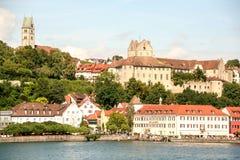 Burg pittoresque de Meersburg sur le lac de Constance photographie stock libre de droits