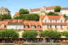 Burg pittoresque de Meersburg sur le lac de Constance photographie stock