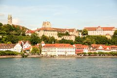 Burg pittoresque de Meersburg sur le lac de Constance photos stock