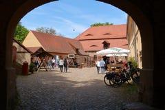 Burg Rabenstein de Belzig do castelo em Brandemburgo, Alemanha fotos de stock royalty free