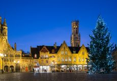 Burg square in Bruges, Belgium Stock Images