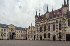 Burg square in Bruges, Belgium Royalty Free Stock Image