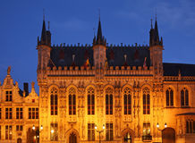 Burg square in Bruges. Flanders. Belgium Royalty Free Stock Photo