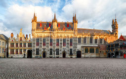 Burg square in Bruges, nobody Royalty Free Stock Photos