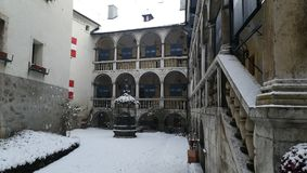 Burg Strechau en hiver photographie stock