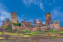 Burg Thurant sur la Moselle photo stock