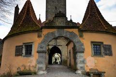 Burg Turm de tauber de der d'ob de rothenburg images libres de droits