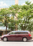 Burgandy 2008-2009 Honda Odyssey Royalty Free Stock Photos