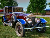 Burgandy Phantom II Rolls-Royce Royalty Free Stock Photos
