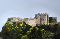 Burganlage in Erice Royalty Free Stock Images