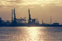 Burgas港 免版税图库摄影