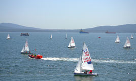 Burgas bay sailing race Stock Photography