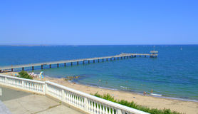 Burgas beach Bulgaria Stock Photos