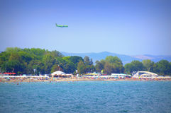 Burgas beach view Royalty Free Stock Image