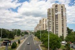 Burgas: Blocos de apartamentos soviéticos de um quarto, Bulgária foto de stock royalty free