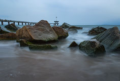 Burgas bridge, Bulgaria Royalty Free Stock Image
