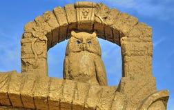 BURGAS BUŁGARIA, PAŹDZIERNIK, - 04: Piasek rzeźba na PAŹDZIERNIKU 04, 2015 w Burgas, Bułgaria Zdjęcie Royalty Free