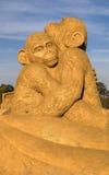 BURGAS BUŁGARIA, PAŹDZIERNIK, - 04: Piasek rzeźba na PAŹDZIERNIKU 04, 2015 w Burgas, Bułgaria Obrazy Royalty Free