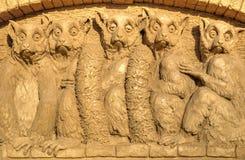 BURGAS BUŁGARIA, PAŹDZIERNIK, - 04: Piasek rzeźba na PAŹDZIERNIKU 04, 2015 w Burgas, Bułgaria Zdjęcia Royalty Free